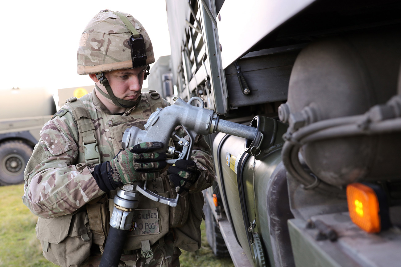 Royal Marines logistics tested in Norfolk