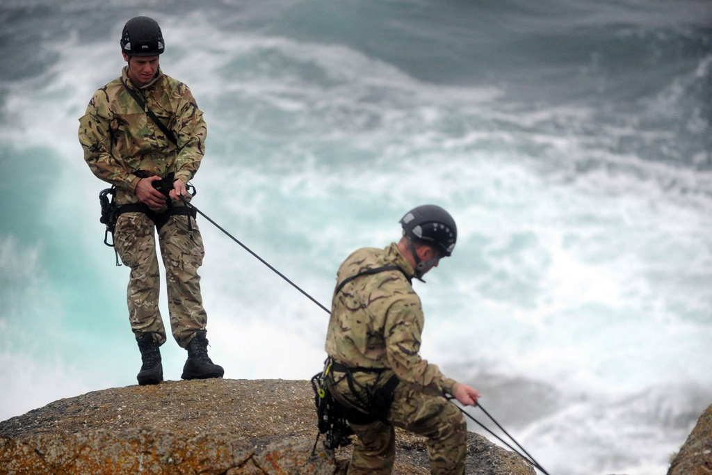 Royal Marines unveil WW2 cliff assault memorial