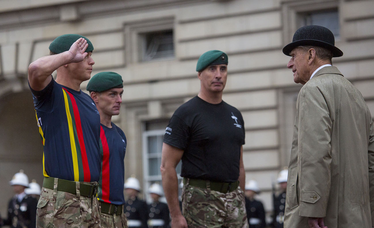 Duke of Edinburgh receives Royal's salute at last public engagement