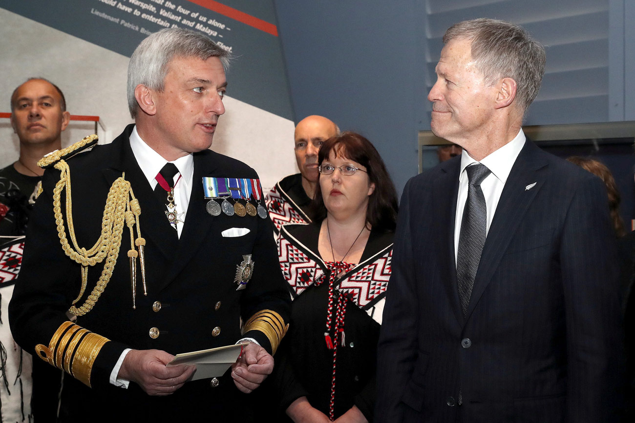 First Sea Lord receives Moari welcome at Jutland exhibition