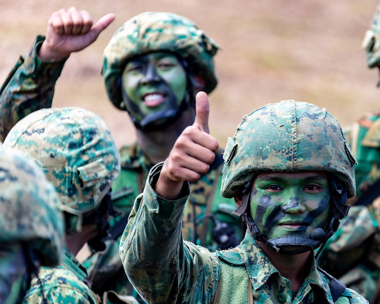 Royal Marines swing into action for Sultan of Brunei