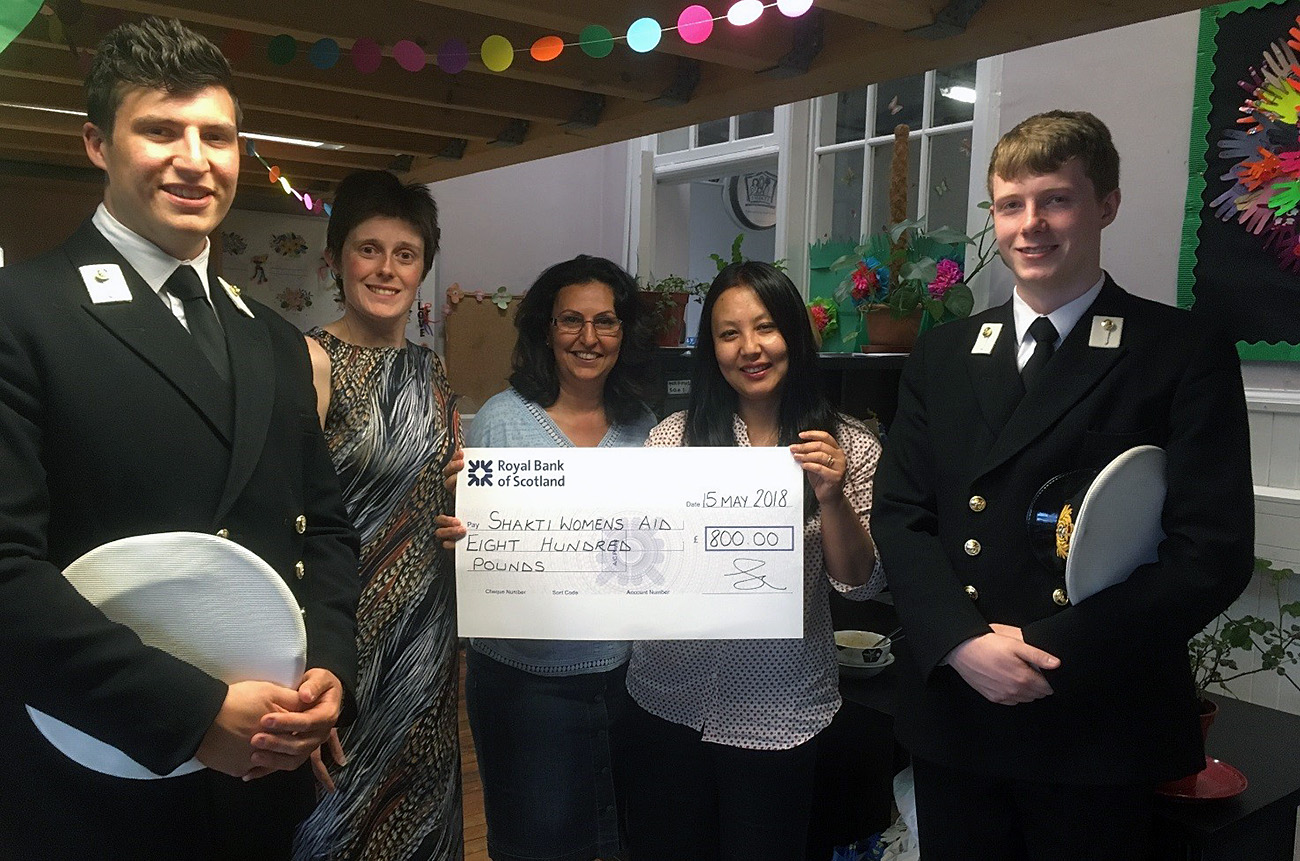 Edinburgh URNU raise funds for Domestic Abuse Charity