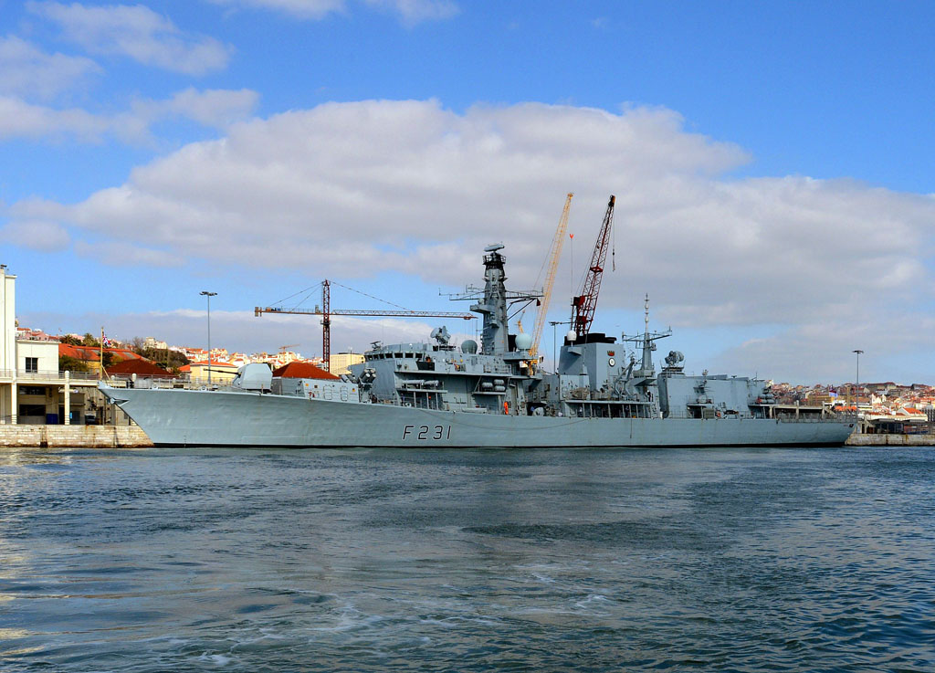 HMS Argyll arrives in Lisbon for Counter-Drugs Brief