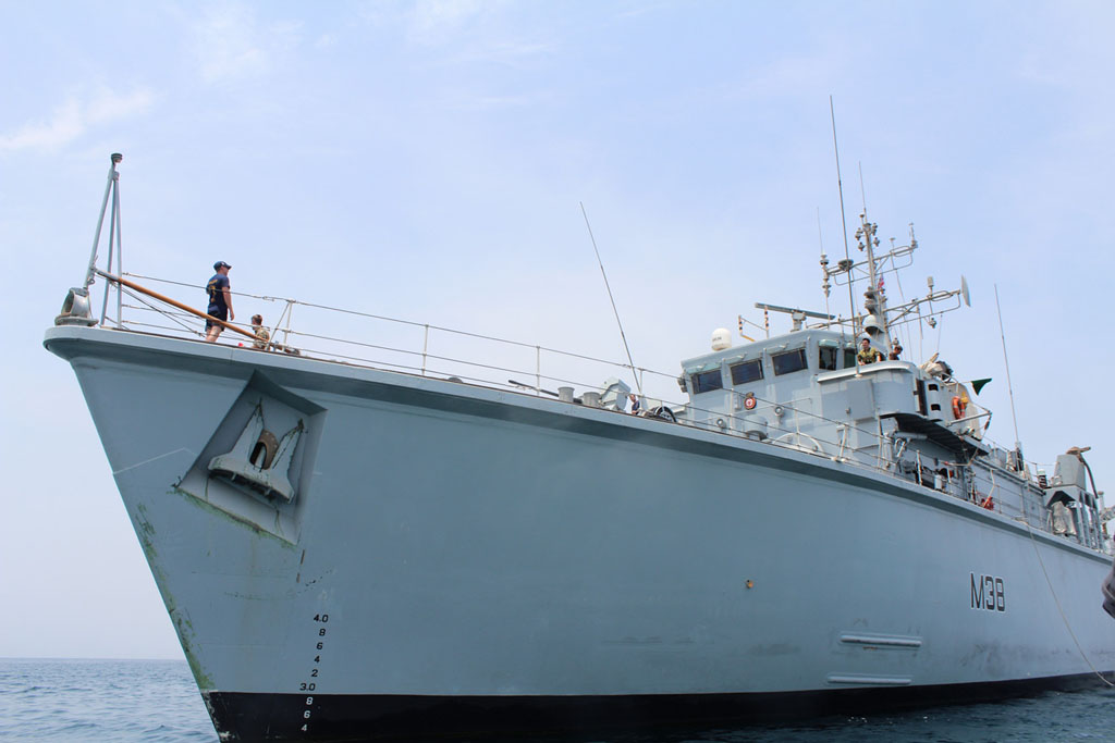 HMS Atherstone up close on Operations in the Central Gulf