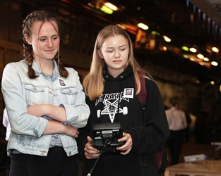 Navy helps nurture budding female engineers aboard HMS Bulwark