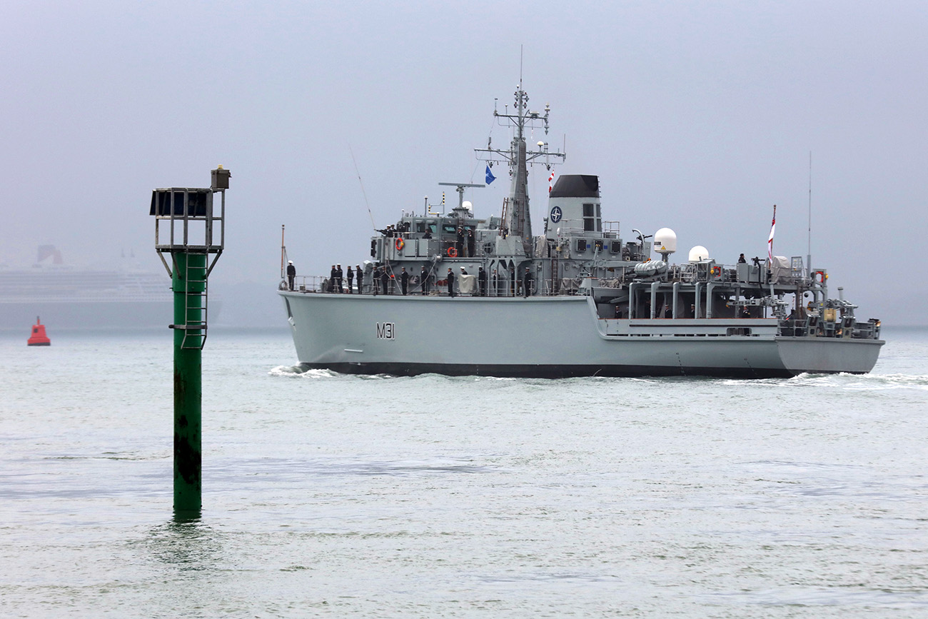 HMS Cattistock deploys