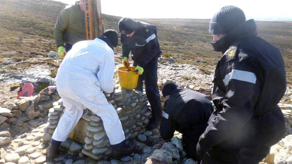 Weather-beaten Falklands memorials restored in time for season of remembrance