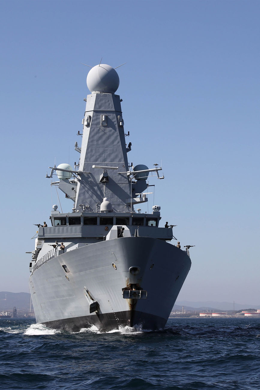 HMS Daring reappears in the shadow of the Rock | Royal Navy