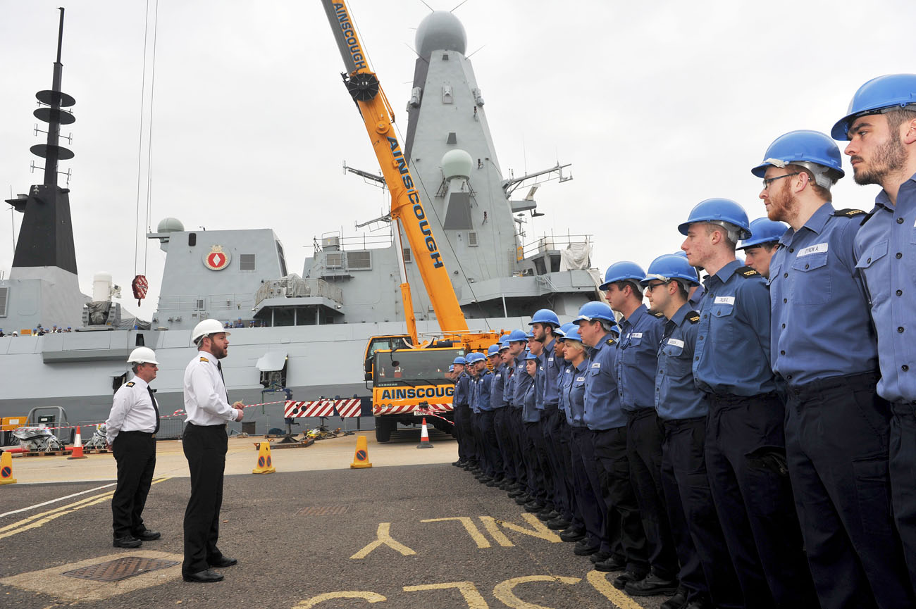 HMS Diamond crew back on board after refit