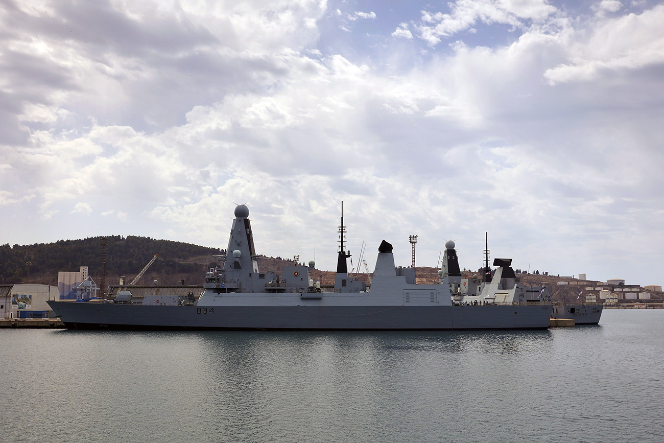 HMS Diamond guards the Mediterranean after taking command of NATO task group