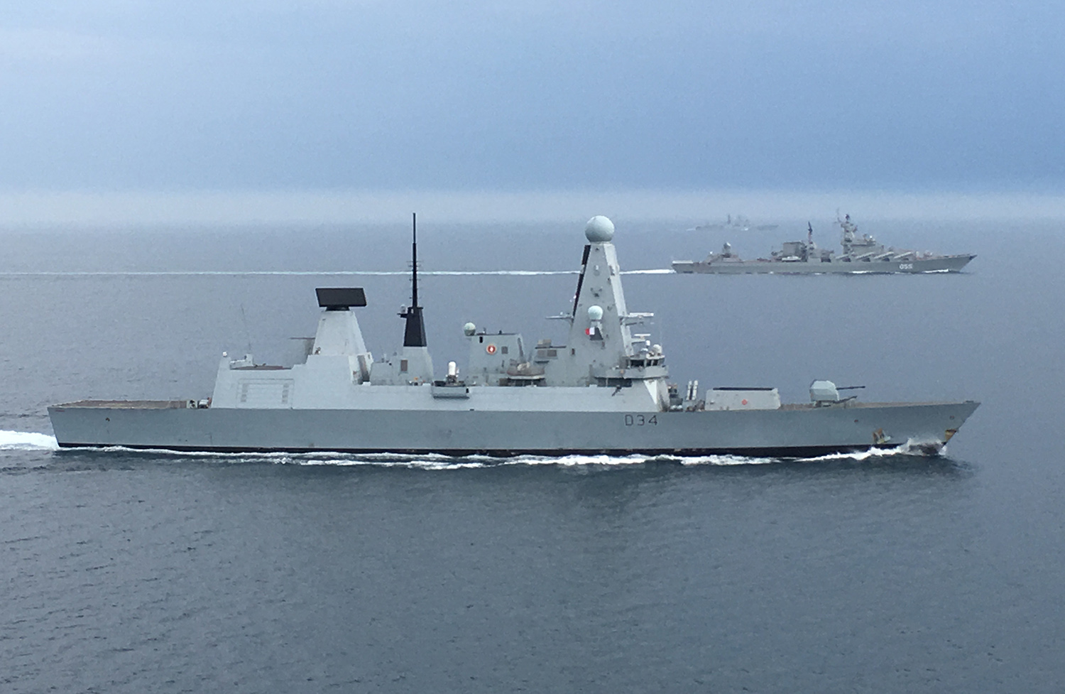 Royal Navy monitors Russian warships in English Channel
