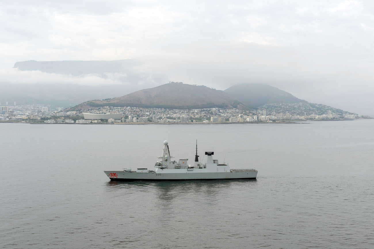 HMS Dragon plays cat and mouse with South Africa submarine