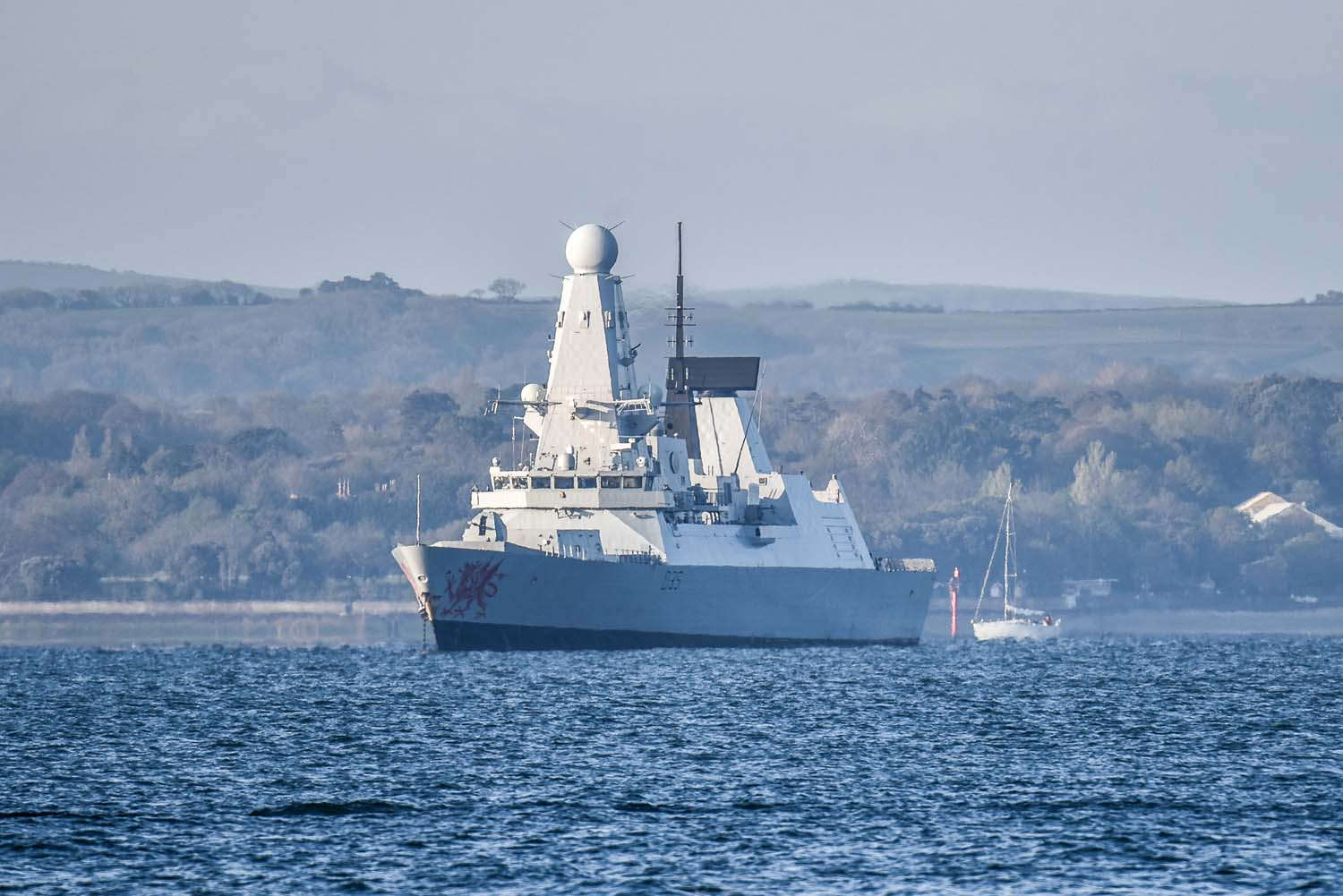HMS Dragon in the Solent