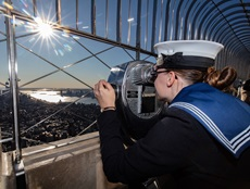Sailors from HMS Dragon in Manhattan. Picture: LPhot Kyle Heller