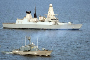 HMS Duncan on show in Romania and Bulgaria