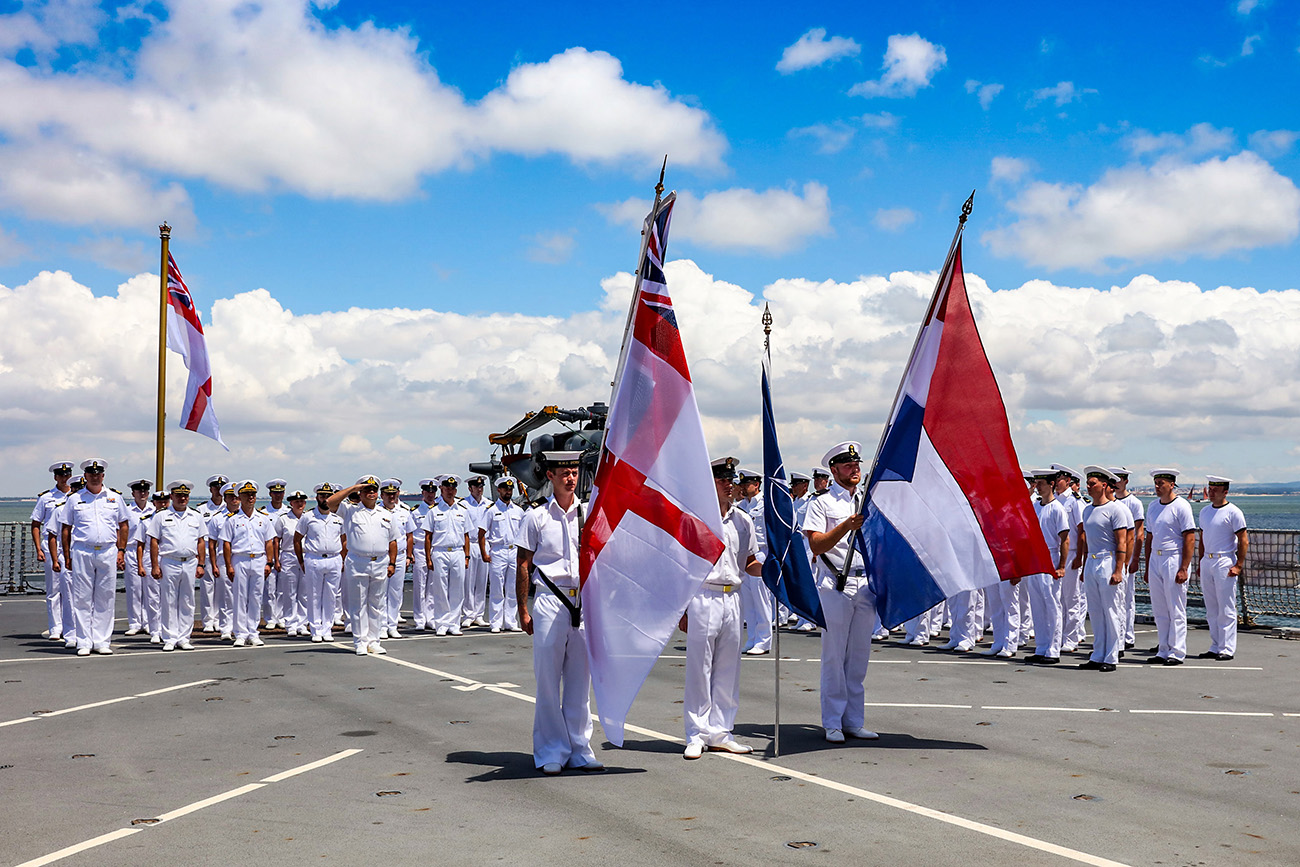 Royal Navy hands over command of NATO Task Group in Portugal