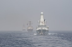 HMS Duncan with the US Carrier Groups