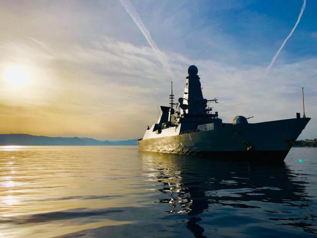 HMS Duncan arrives in Corfu