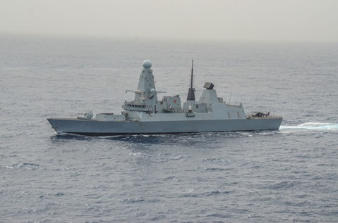 HMS Duncan is on Operation Sea Guardian
