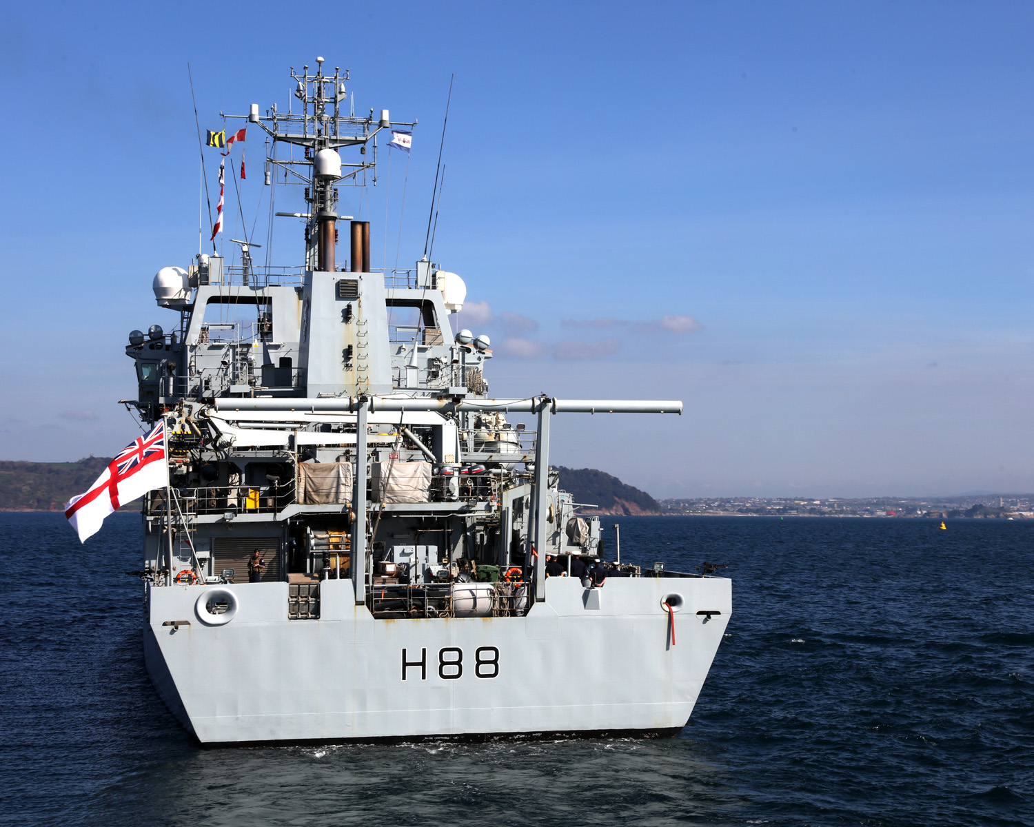 Hms Enterprise Home After Three Years Away Royal Navy