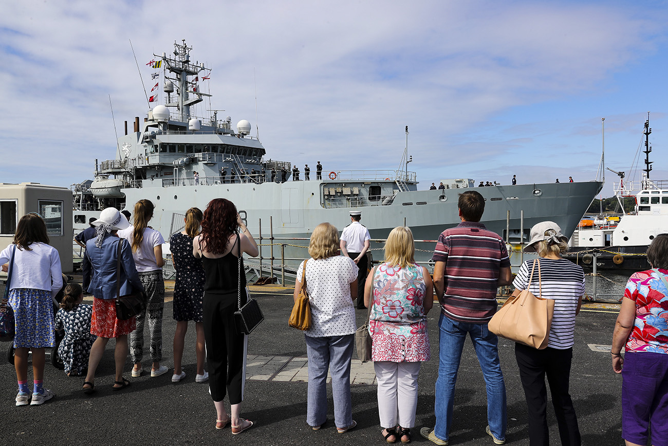 HMS Enterprise returns home after year on NATO duties