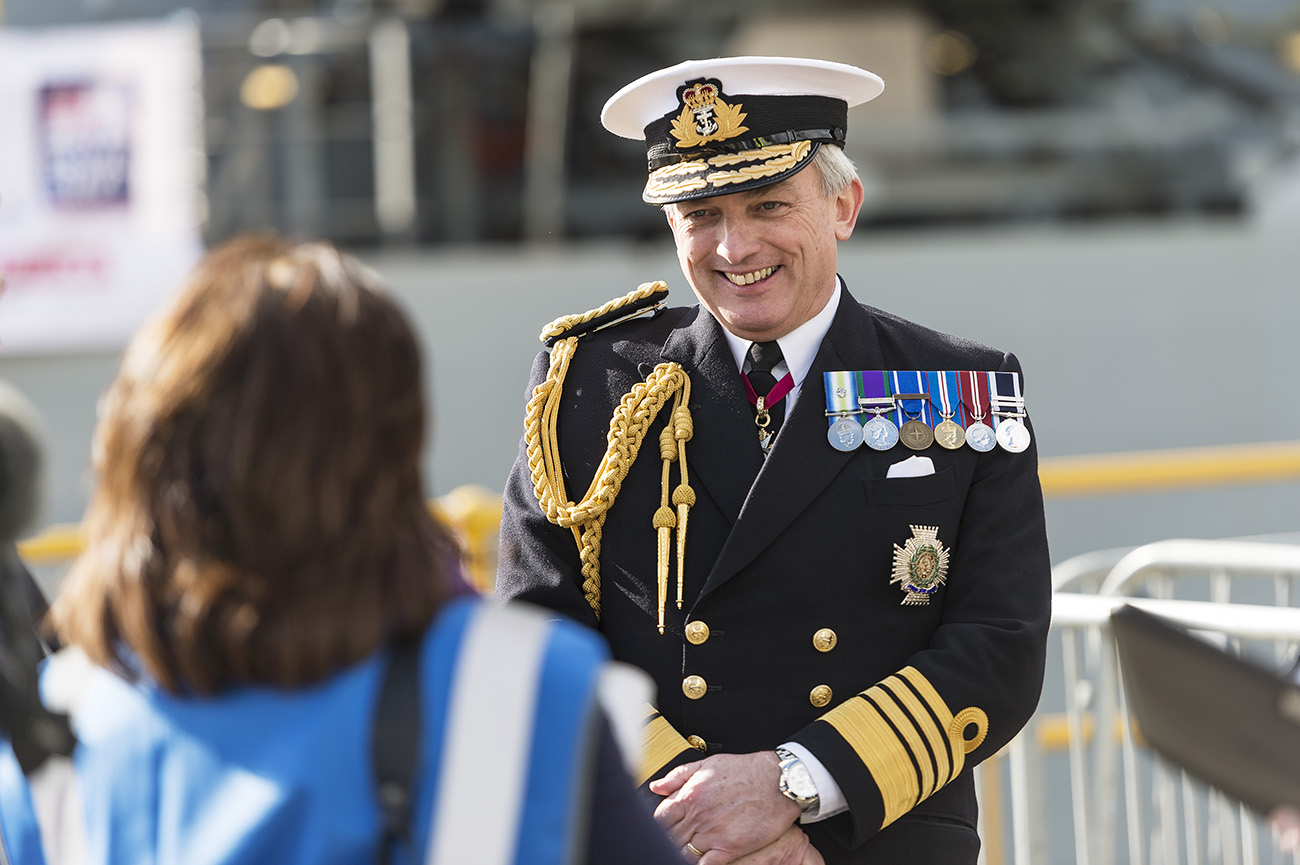 the first of five new patrol ships is named on the Clyde