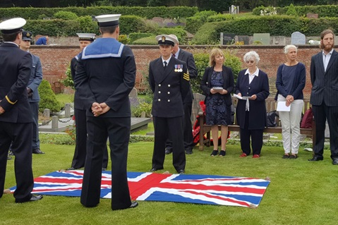 Grave of World War 1 sailor rededicated