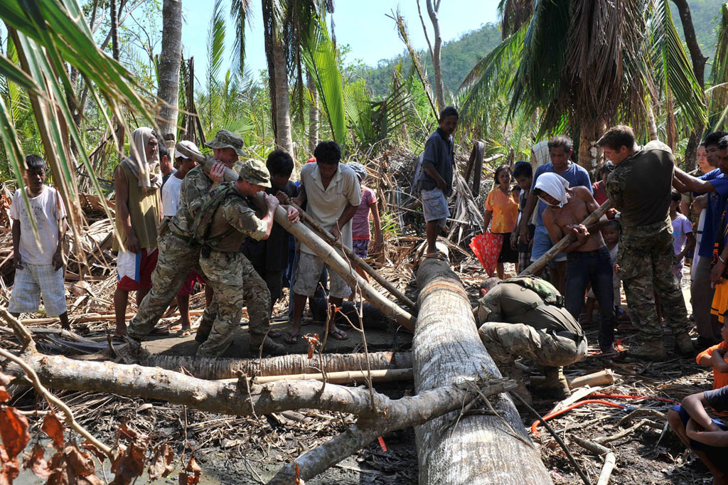 Royal Navy's Philippines relief mission – 'an amazing and inspiring story' helping 50000 people