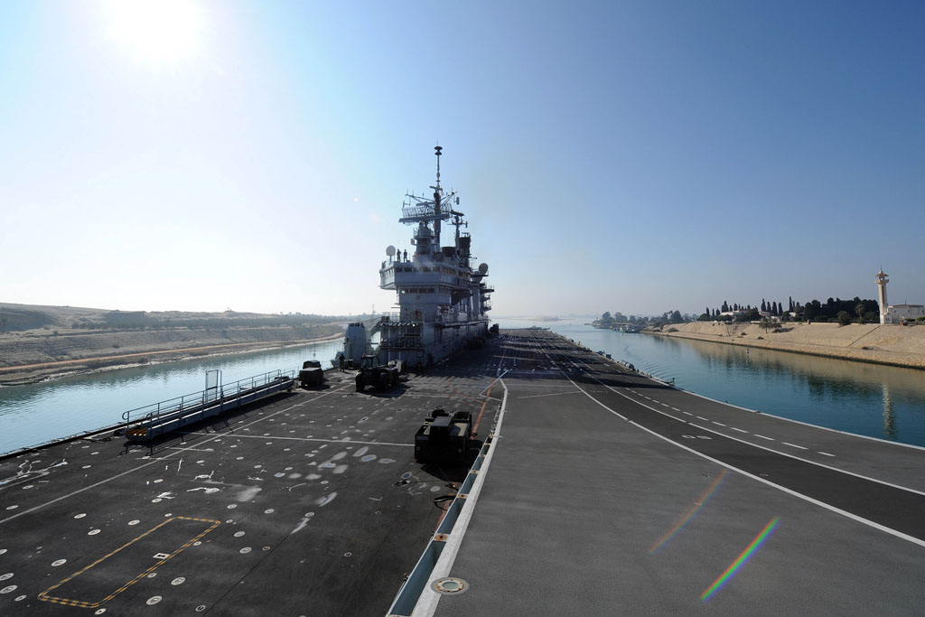 illustrious two thirds of the way home as she passes through suez