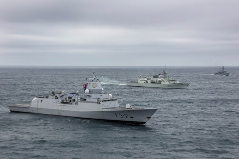 HMS Kent and HMS Westminster join allies for NATO exercise off Iceland. Picture: LPhot Dan Rosenbaum