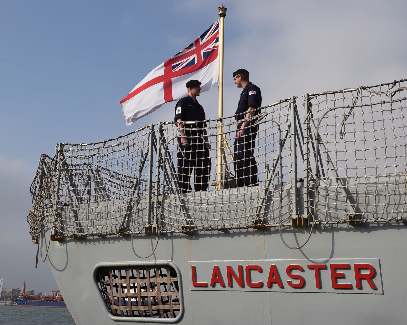 HMS Lancaster will sail in newest navy uniform for 70 years
