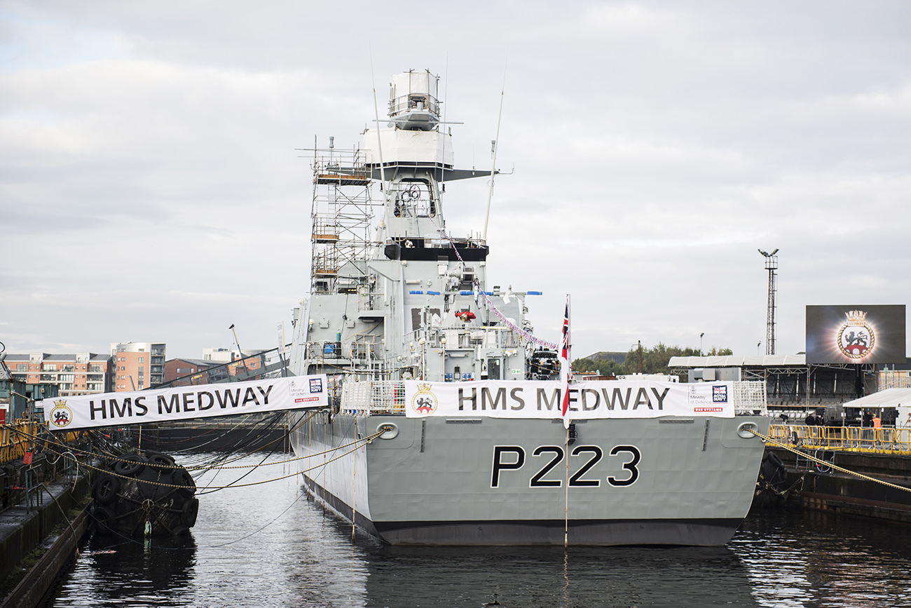 New offshore patrol vessel named in Glasgow