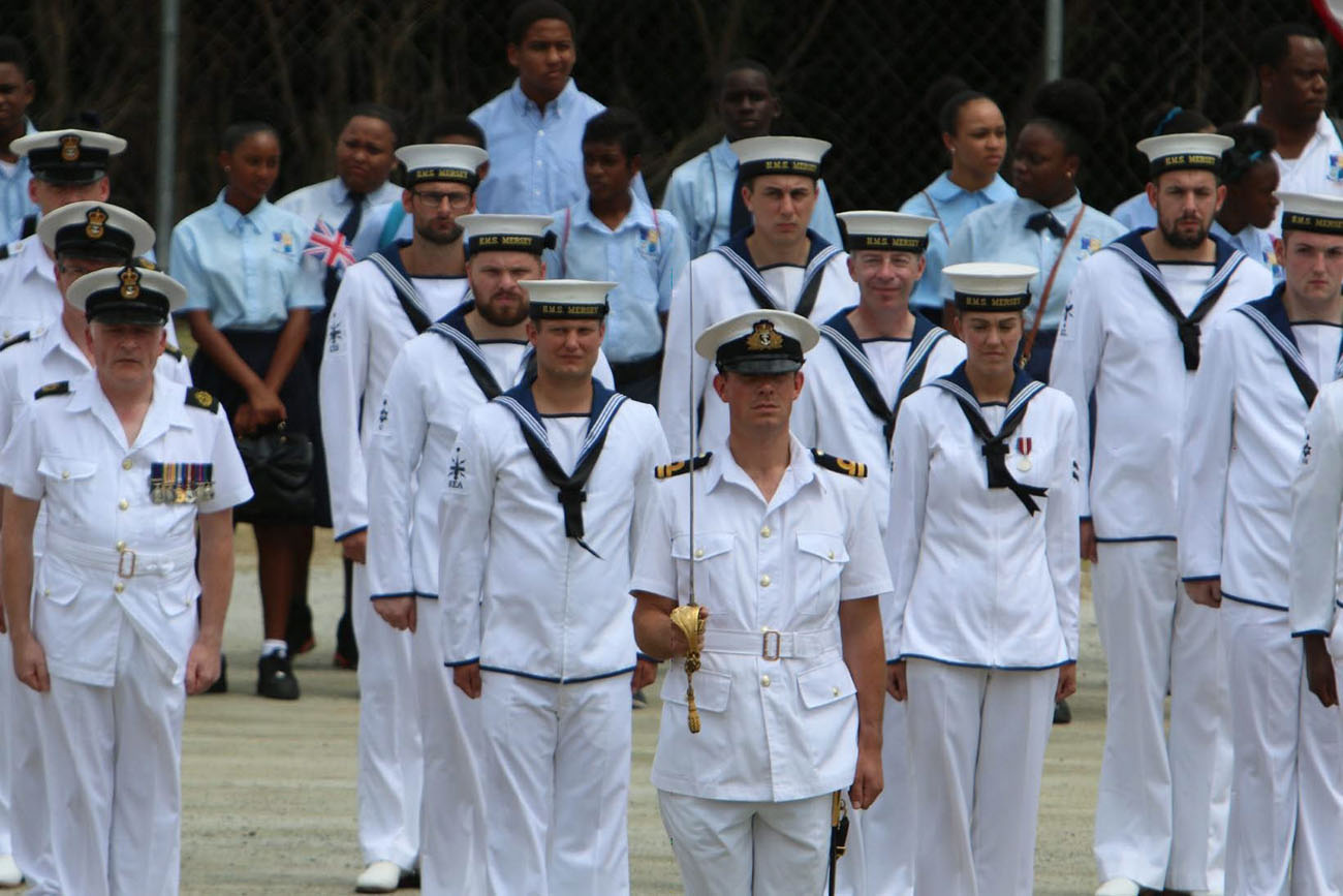 Double celebration for HMS Mersey in British Virgin Islands