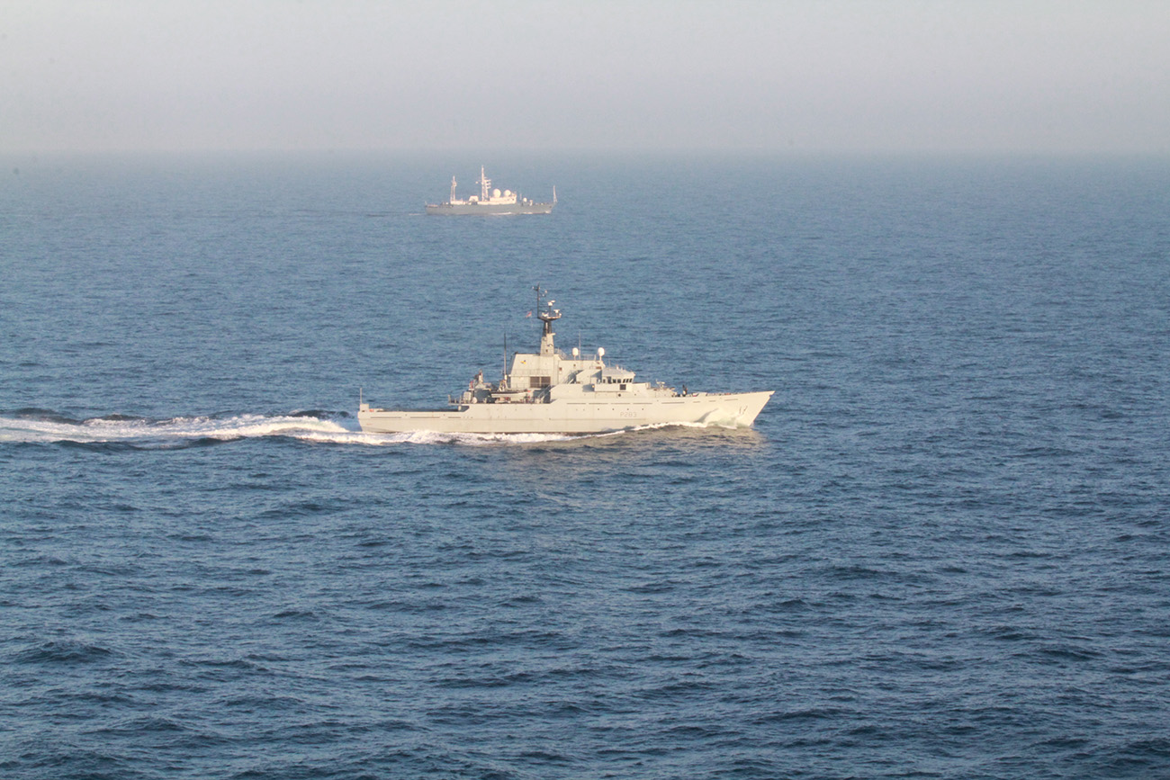 Royal Navy escorts Russian ships through English Channel
