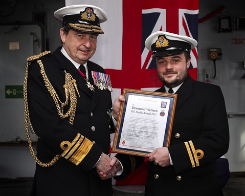 Awards hat trick for HMS Mersey