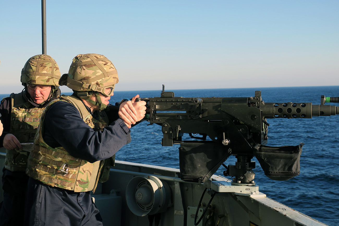 Monmouth reinforces British sovereignty with patrol around the Rock