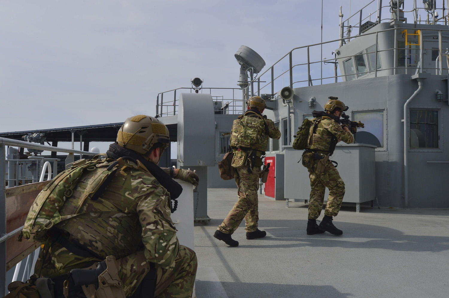 Board and search team training on board HMS Montrose