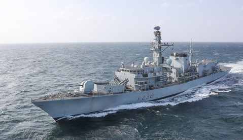 HMS Montrose at sea in the Gulf