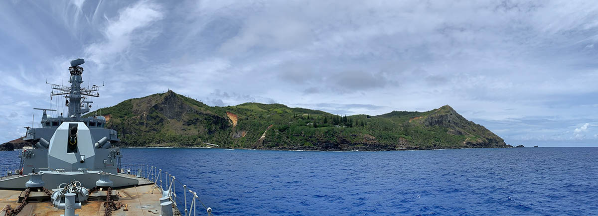 HMS Montrose visit to Pitcairn Island