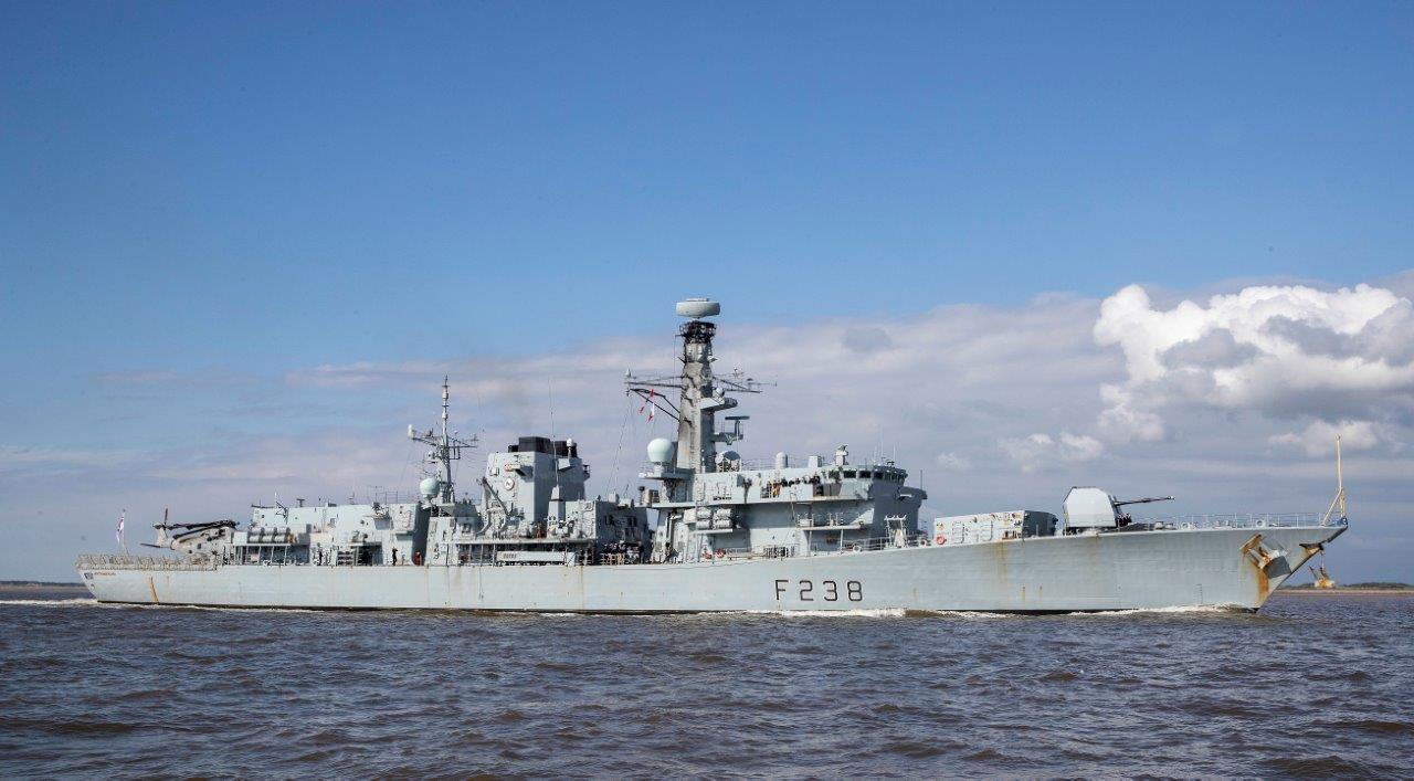 HMS Northumberland arrives in Liverpool. Picture: Jason Roberts Photography