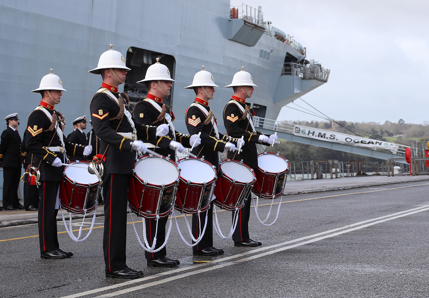 HMS Ocean leaves service with a royal farewell