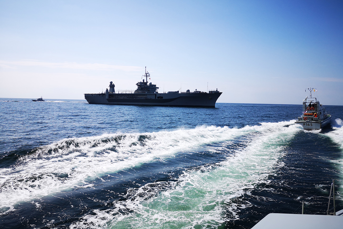 Royal Navy patrol vessels join NATO exercise in Baltics