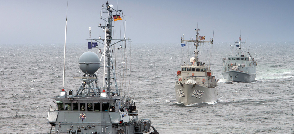HMS Pembroke helps keep the Baltic shipping lanes safe