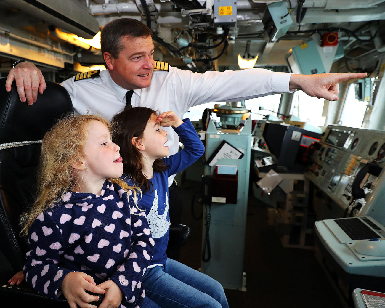 HMS Portland sails on a nine-month patrol