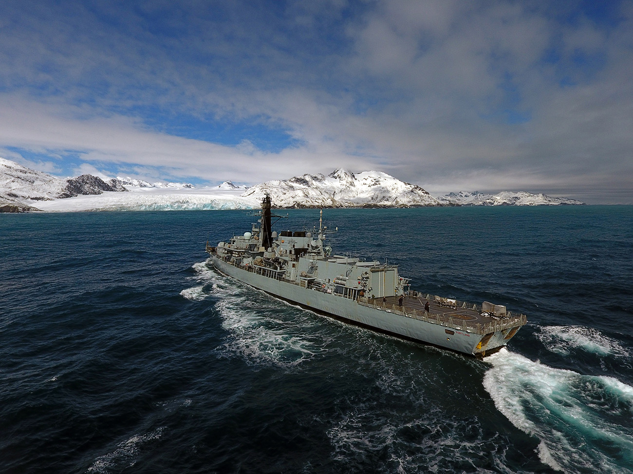 Ice, ice Navy as HMS Portland visits South Georgia