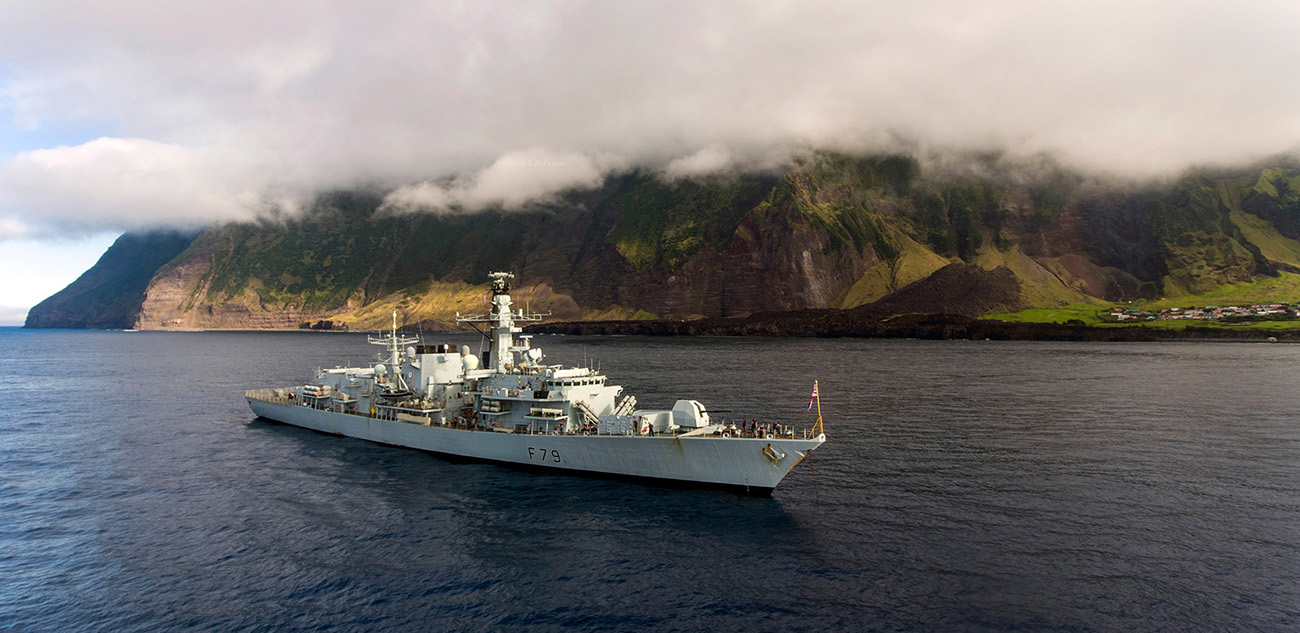 MS Portland on visit to world's remotest island