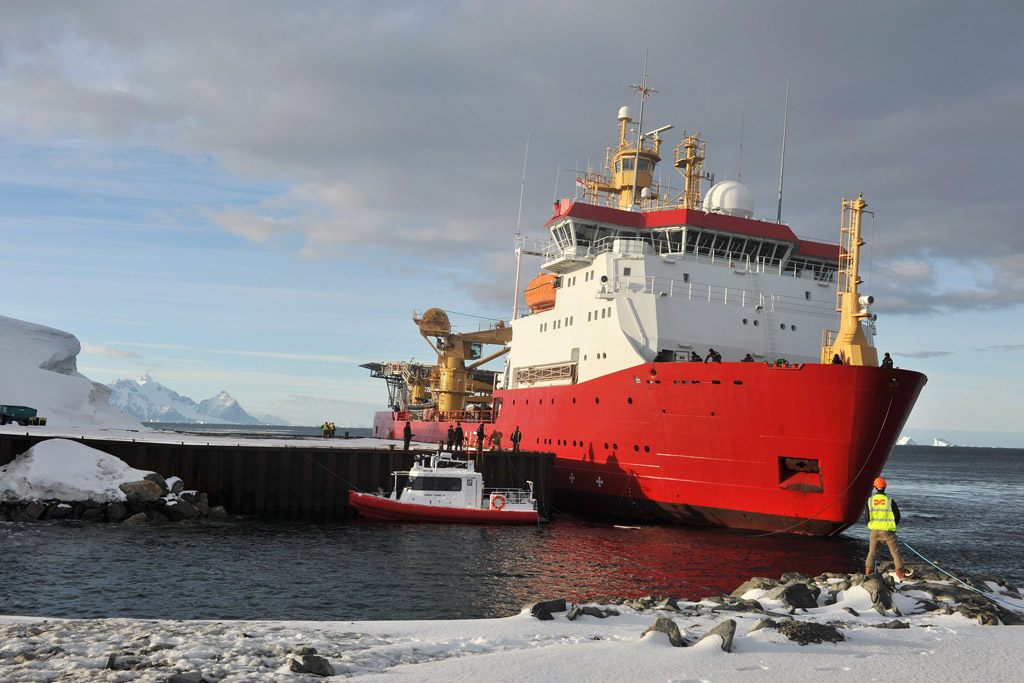 Protector visits ice paradise as she sails further south than ever