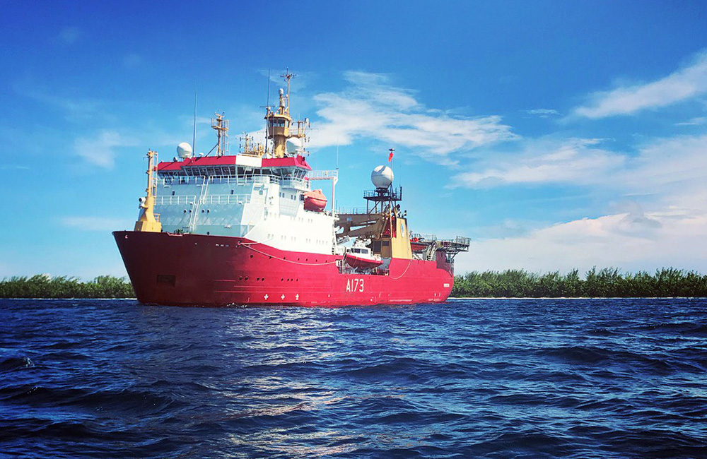 HMS Protector swaps ice for paradise on Indian Ocean mission