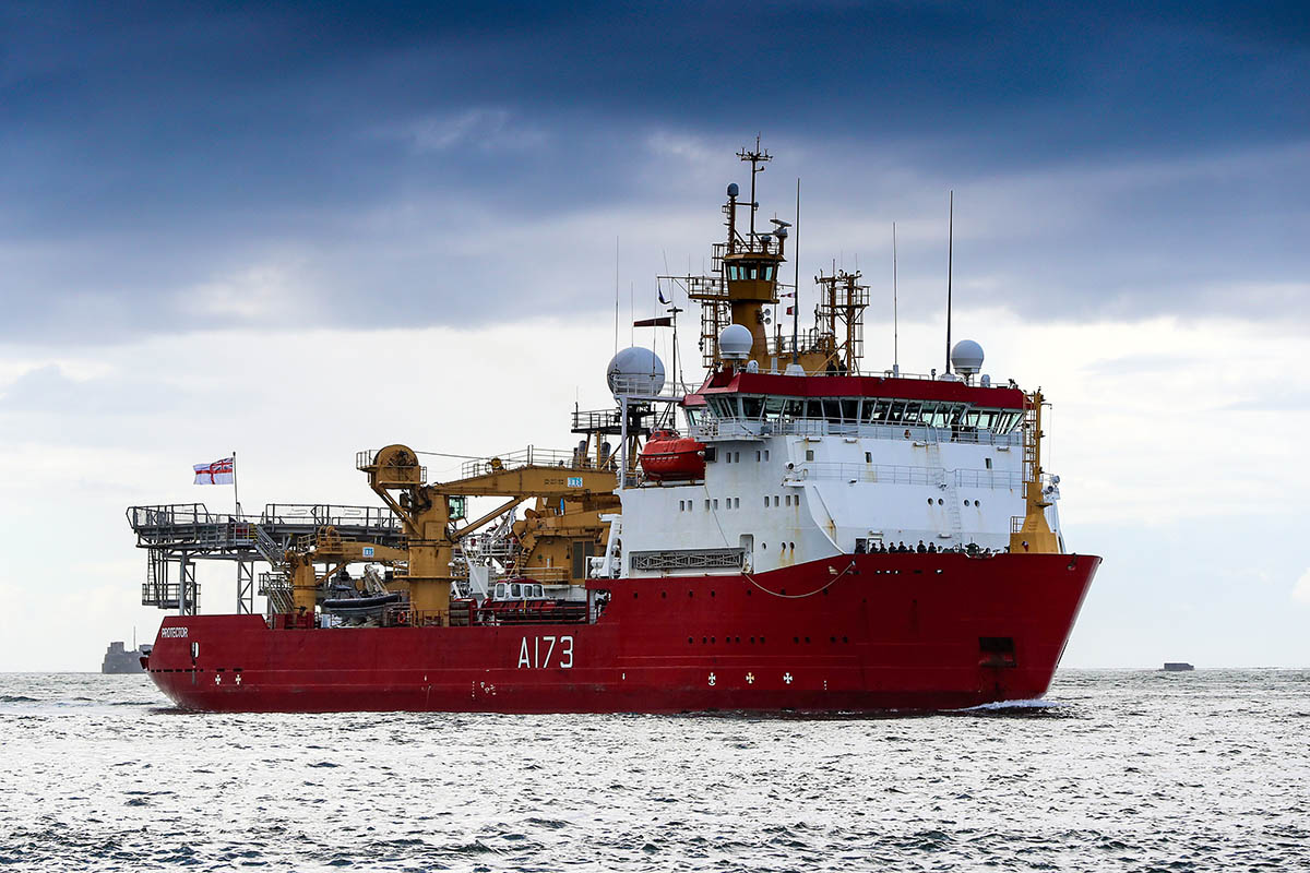 HMS Protector travelled 136,608 nautical miles since she departed UK shores back in 2015.