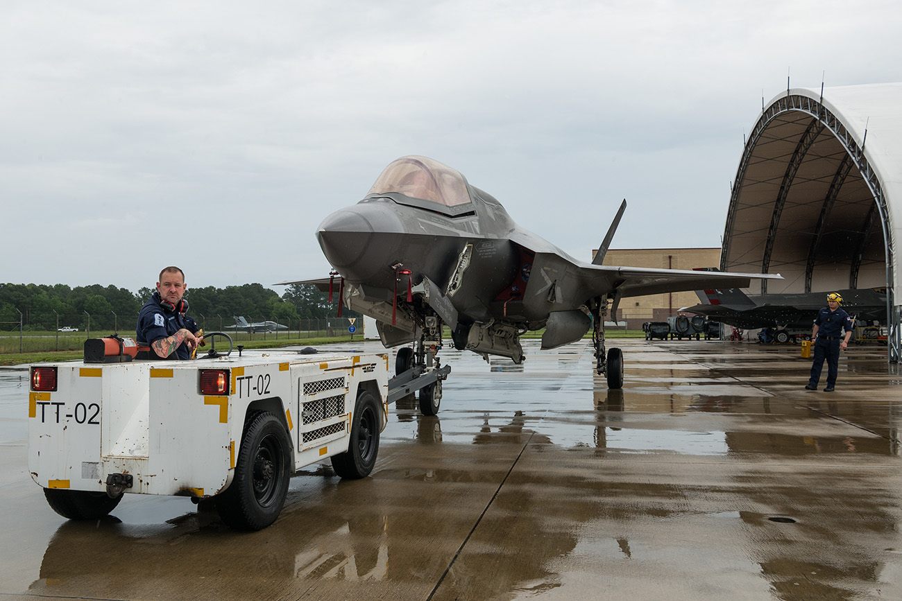 flight deck team experience live F-35s for first time